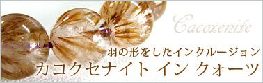 羽の形をしたインクルージョン カコクセナイトインクォーツ